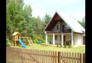 Mazury, duży dom nad jeziorem Marksoby